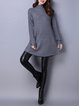 Long Sleeve A-line Casual Knitted Sweater Dress