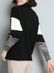 Turtleneck Long Sleeve Casual H-line Sweater