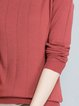 Coral Knitted H-line Long Sleeve Solid Sweater