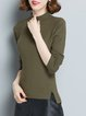 Long Sleeve Simple Knitted Sweater