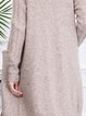 Apricot Long Sleeve Knitted Plain Cardigan