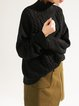 Cable Long Sleeve Knitted Casual Turtleneck Sweater