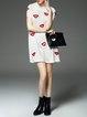 Short Sleeve Paneled Sweet Mini Dress