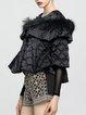 Beaded Detachable Faux Fur Cape/Down