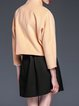 Orange Cocoon Long Sleeve Cropped Jacket