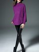 Purple Shift Long Sleeve Knitted Sweater