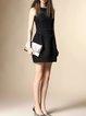 Black Cotton-blend Jacquard Floral Sleeveless Mini Dress