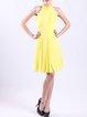 Elegant Folds Solid Sleeveless Midi Dress