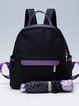 Black Nylon Casual Zipper Backpack