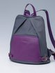 Gray Casual Nylon Medium Backpack