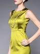 Work Polyester Sleeveless Paneled Mini Dress