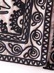 Khaki Long Sleeve Floral Long Coat