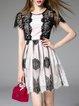 Crew Neck Short Sleeve Girly Mini Dress