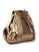Golden Small Calfskin Leather Shoulder Bag