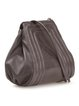 Gray Calfskin Leather Small Shoulder Bag