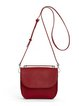 Red Leather Magnetic Casual Satchel