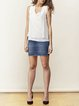 Beige Viscose Casual Plain V Neck Tanks And Cami