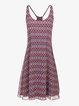 Purplish Blue Spaghetti Sleeveless Mini Dress