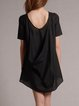 Black Crew Neck Casual Tunic