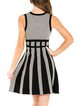 Black Stripes Elegant Viscose Mini Dress