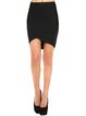 Black Bodycon Plain Work Mini Skirt