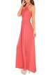 Ruched Halterneck Sleeveless Halter Evening Maxi Dress