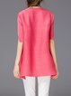 Pink Half Sleeve Animal Print Blouse