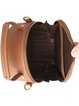 Brown Cowhide Leather Mini Casual Crossbody