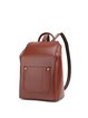 Brown Cowhide Leather Zipper Retro Backpack