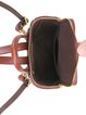 Black Cowhide Leather Retro Zipper Backpack