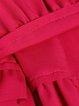 Fuchsia Ruffled Girly Ruffled A-line Midi Dress