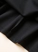 Black Crew Neck Long Sleeve Sheath Midi Dress