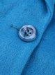 Blue Buttoned Lapel A-line Elegant Coat