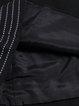 A-line 3/4 Sleeve Binding Mini Dress