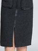 Elegant Turtleneck Color-block Long Sleeve Sheath Midi Dress