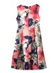 Multicolor Vintage A-line Floral Print Midi Dress