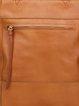 Brown Medium Plain Cowhide Leather Top Handle