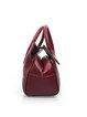 Embossed Cowhide Leather Retro Magnetic Medium Top Handle