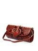 Embossed Cowhide Leather Medium Magnetic Retro Shoulder Bag