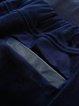 Black Two Piece Plain 3/4 Sleeve Slit Midi Dress