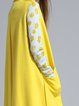 Yellow Elegant Fringed Sleeveless Plain Vests And Gilet
