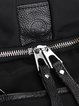 Solid Nylon Casual Zipper Medium Backpack