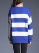 Color-block Letter Stripes Sweater