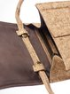 Neutrals Casual Twist Lock Cork Crossbody Bag