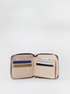 Neutrals Retro Cowhide Leather Zipper Wallet