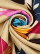 Multicolor Casual Abstract Silk Scarf