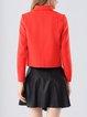 Orange Long Sleeve Wool Zipper Cropped Jacket