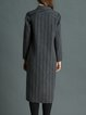Deep Gray Symmetric Lapel Wool Blend Casual Coat