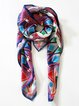 Multicolor Abstract Elegant Silk Scarf