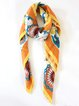 Orange Elegant Abstract Silk Scarf
